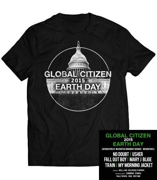 Global Citizen 2015 Earth Day Black Tee by H&M