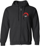 Red Circle Zip Up Hoodie