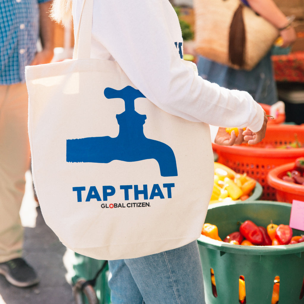 Prinkshop x Social Goods x Global Citizen Tap That Tote