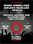 Global Citizen Festival 2016 Poster