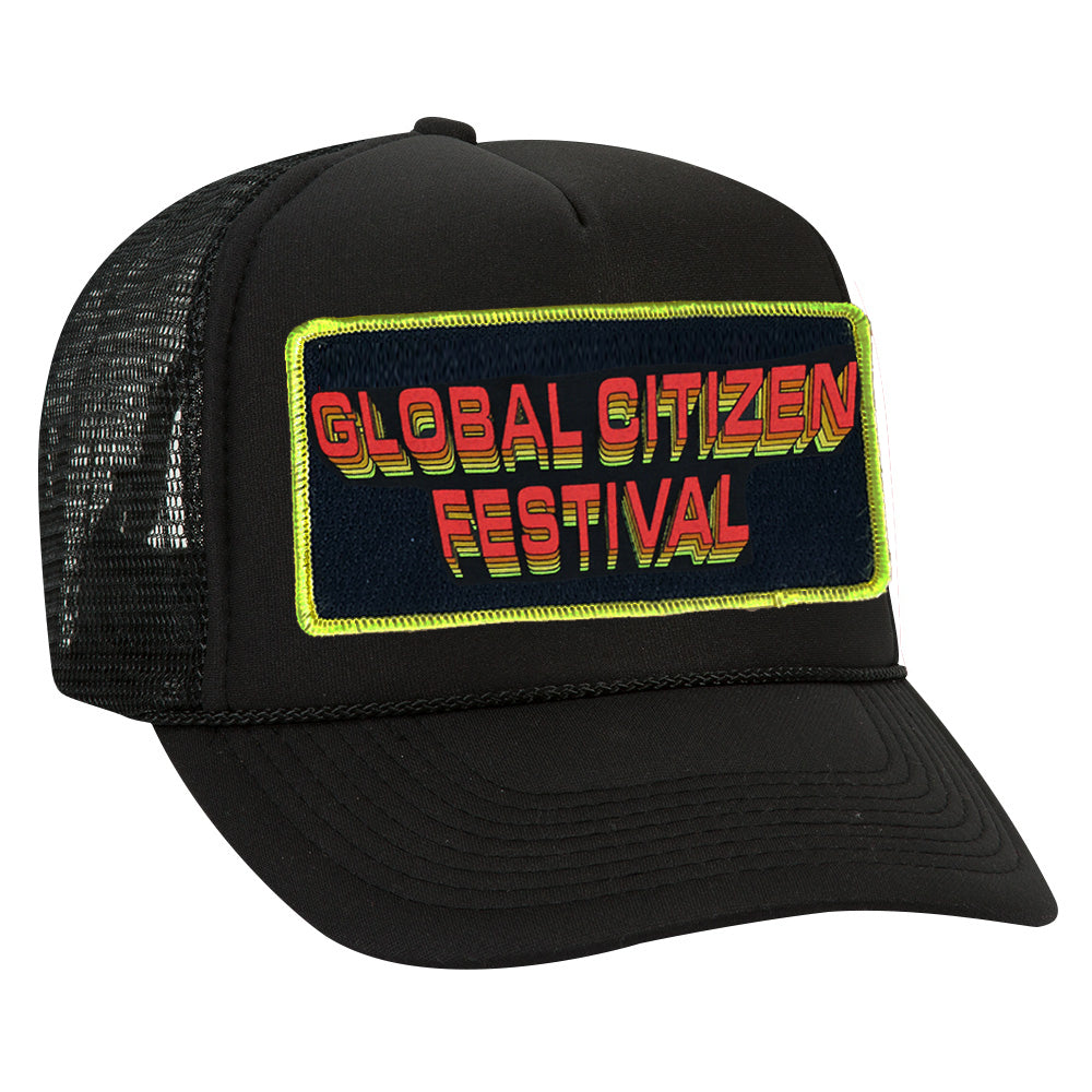 AVIATOR NATION FOR GCF '19 VINTAGE LOW RISE TRUCKER HAT - BLACK