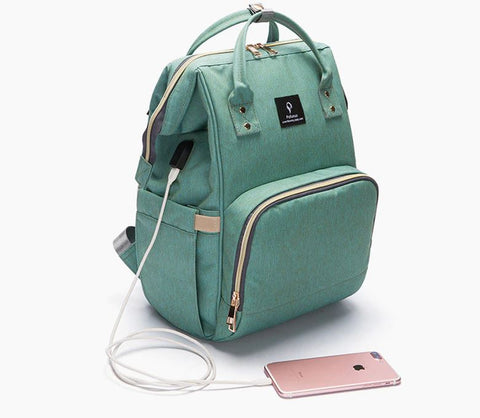 Diaper Bag Backpack With USB Interface