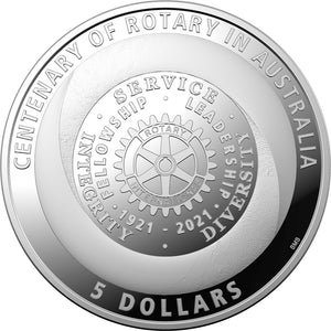 2021 Centenary of Rotary - $5 1oz Silver Proof