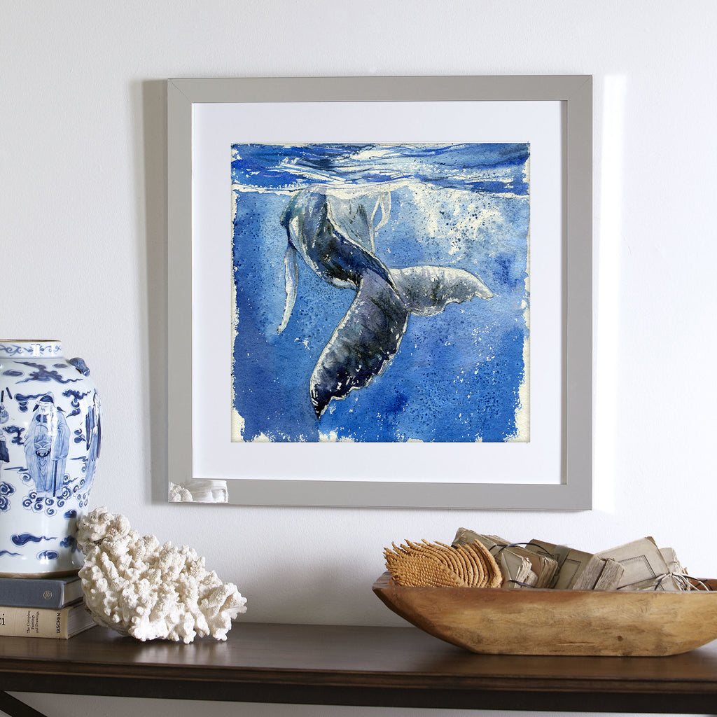 """Show off"" Humpback Whale Original Watercolour Painting"