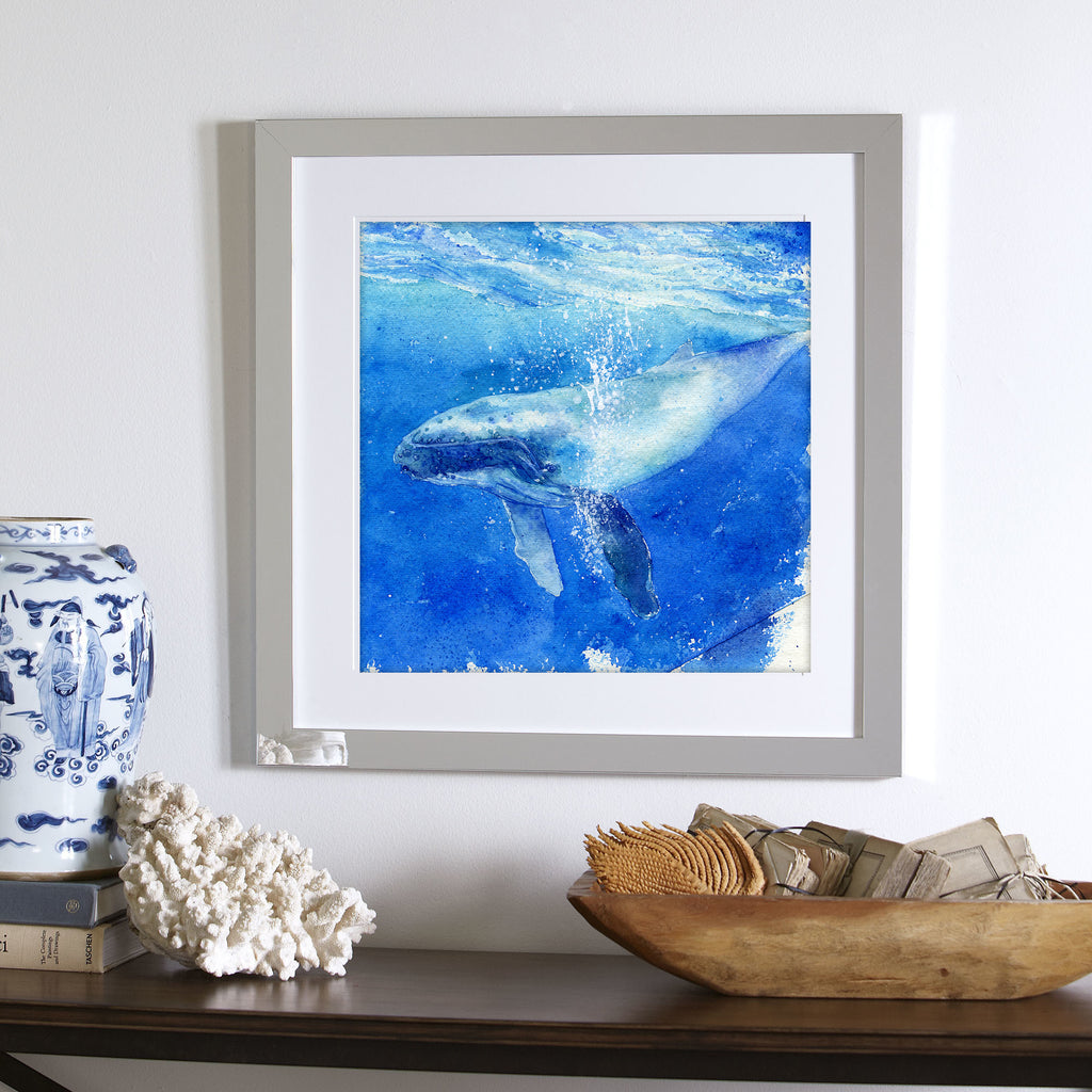 """Ha'apai"" Humpback Whale Original Watercolor Painting"