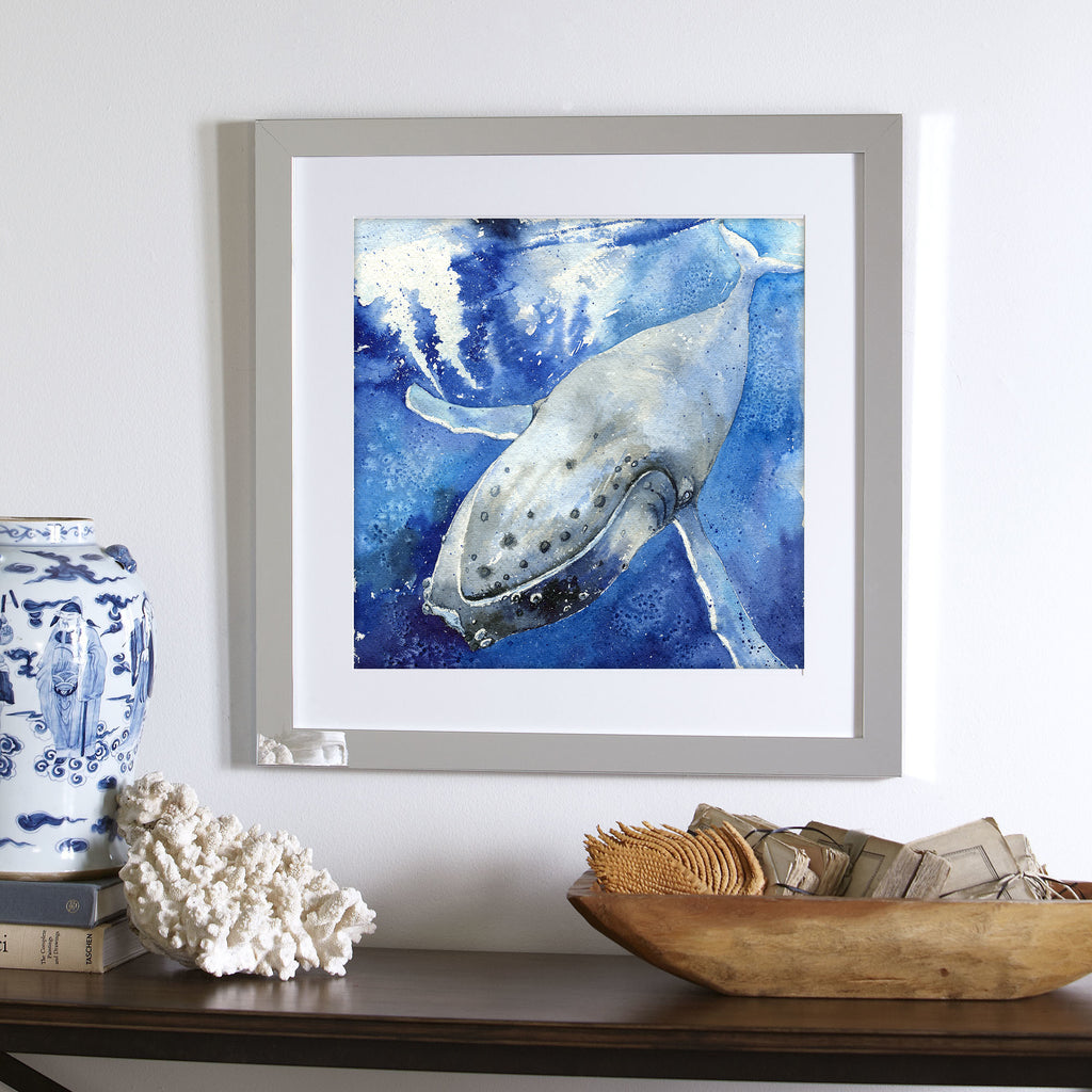 """Tonga"" Humpback Whale Original Watercolor Painting"