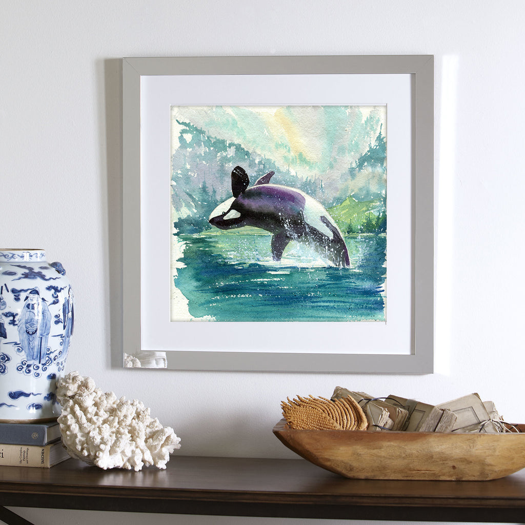 """Marina"" Orca Whale Original Watercolor Painting"