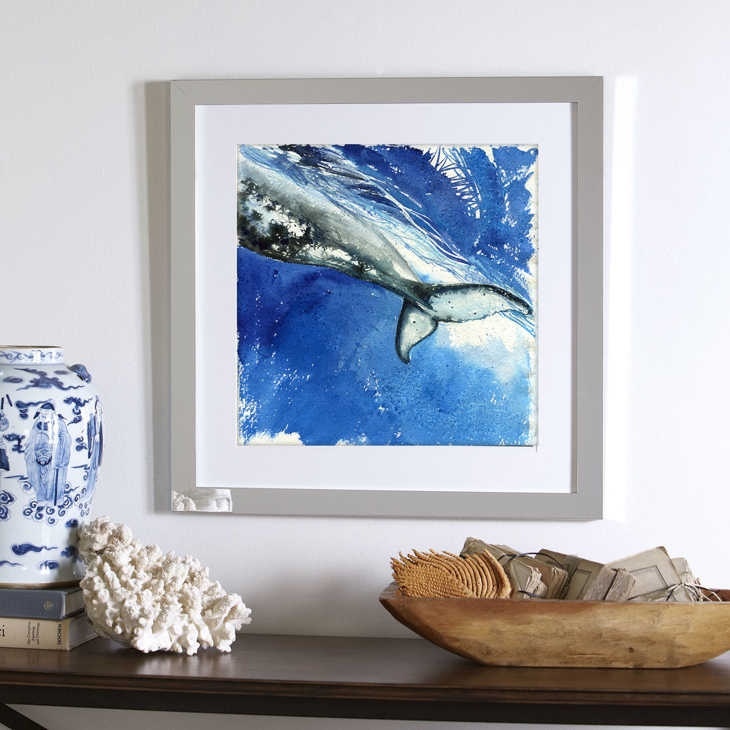 """Strength"" Humpback Whale Tail Original Watercolor Painting"