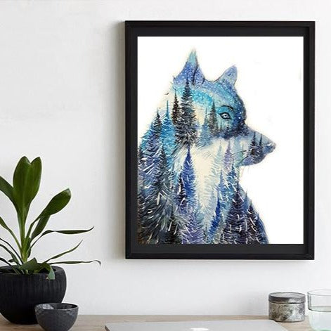 "Leader of the Pack""Wolf Watercolour Print"