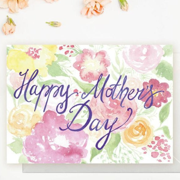 Happy Mother's Day Watercolour Card