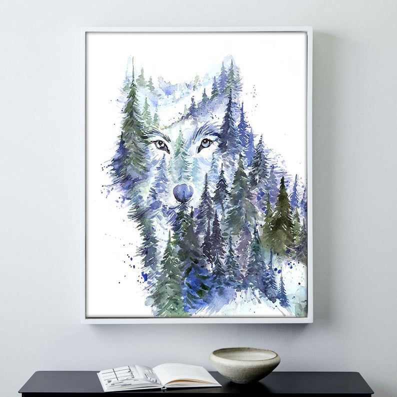 """Young Wolf"" Watercolour Print"