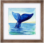 "Load image into Gallery viewer, ""Aloha"" Humpback Whale Tail Original Watercolour Painting"