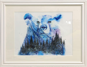 Aurora Bear Watercolour Print