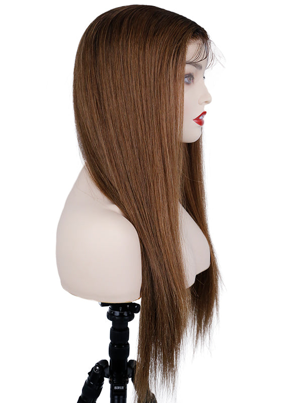 YOOWIGS Flash Sale HD Lace Wigs Brazilian Remy Human Hair Ombre Color Lace Front Straight Wigs Free Part for Black Women