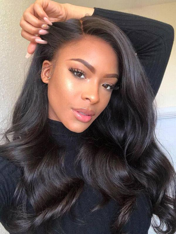 YOOWIGS Royal Film HD Full Lace with Baby Hair Wavy Wigs ZY011
