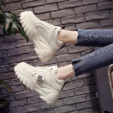 LZJ High Quality Trainers Women's Platform Sneakers Women Shoes Breathable Casual Women Running Chunky Sneakers Plus Size 35-39