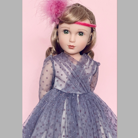 Helena, Your Regency Girl. In Clementine Your 1940s Girl party dress.