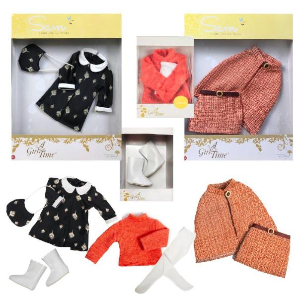 Sam, Your 1960s Girl - COSTUME BUNDLE for 16 inch dolls-Dolls, Books & Gifts | A Girl for All Time UK