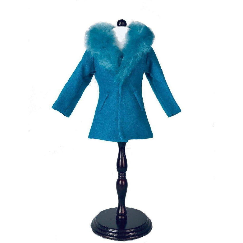 Blue Furry Coat and Hat - for 16 inch A Girl for All Time dolls-Dolls, Books & Gifts | A Girl for All Time UK