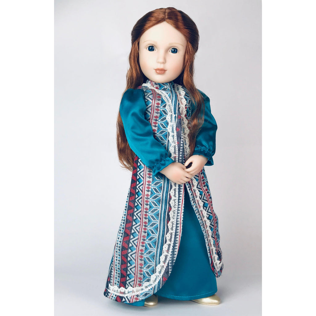 Elinor's Surcoat and Gown doll costume for 16 inch A Girl for All Time dolls-Dolls, Books & Gifts | A Girl for All Time UK
