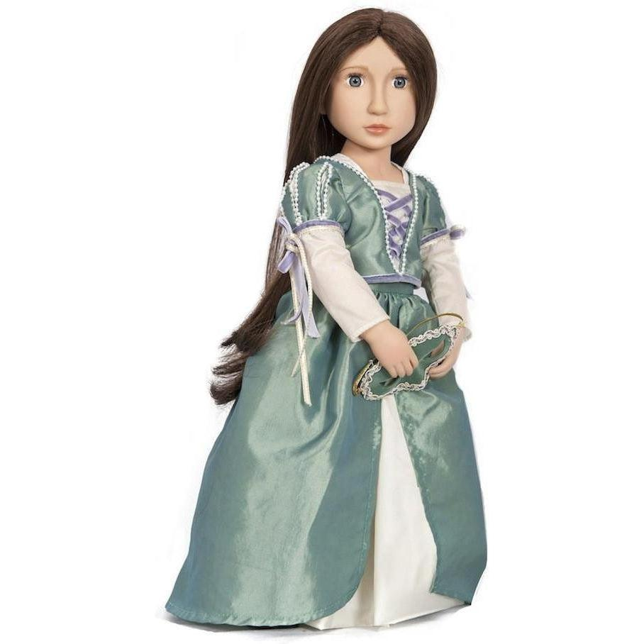 Matilda's Masked Ballgown doll costume for 16 inch dolls-Costume-Dolls, Books & Gifts | A Girl for All Time UK