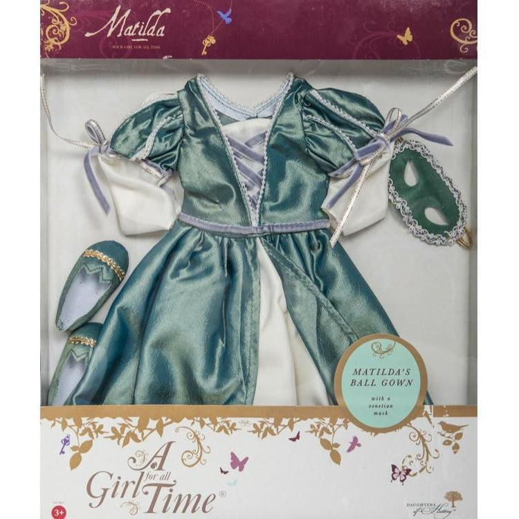 Matilda's Masked Ballgown doll costume-Dolls, Books & Gifts | A Girl for All Time UK