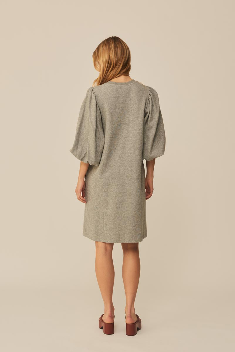 Mbym Emmaline Dress Jess Light Grey Melange