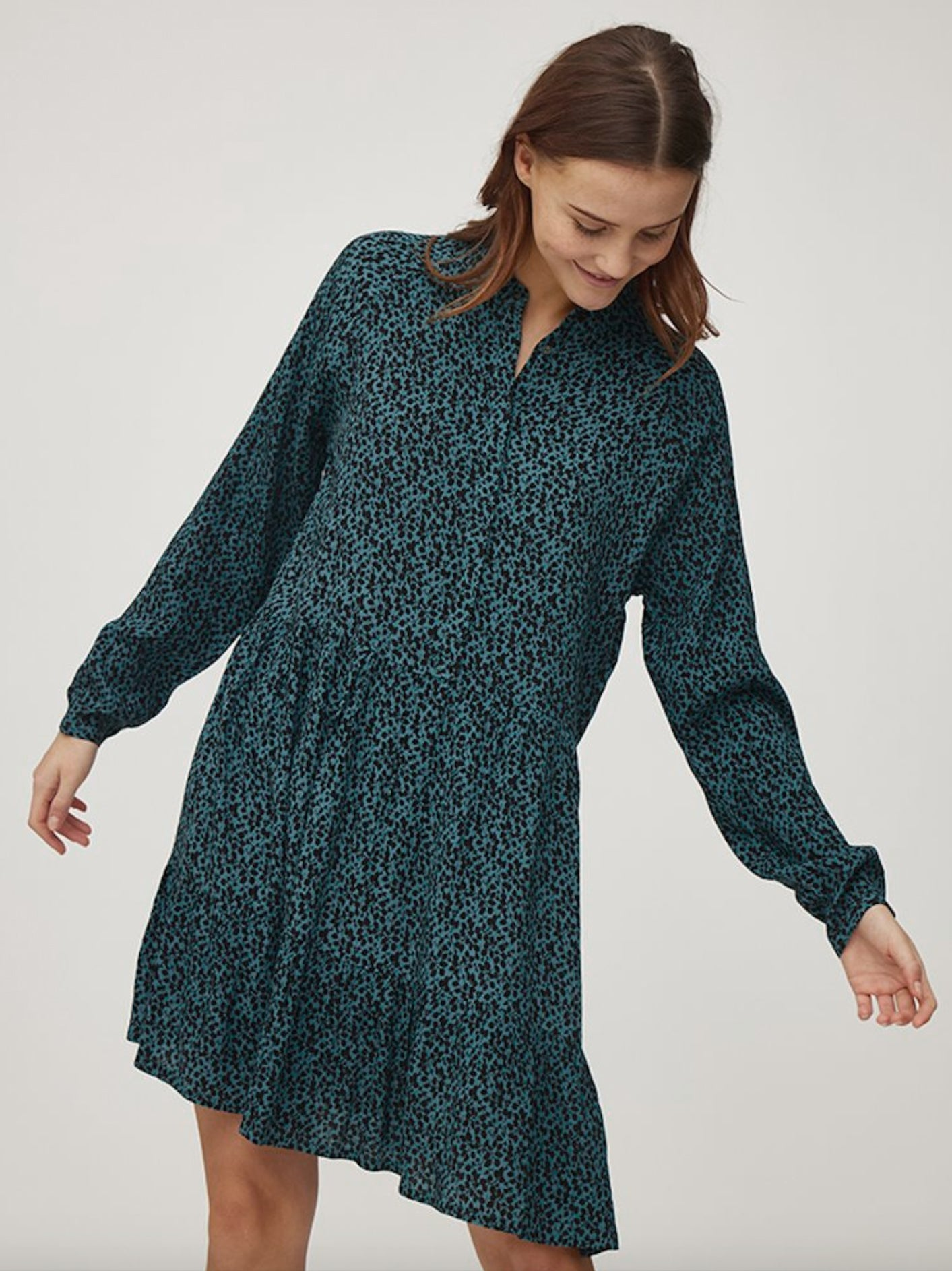 Mbym Marra Dress Cassius Blue Print