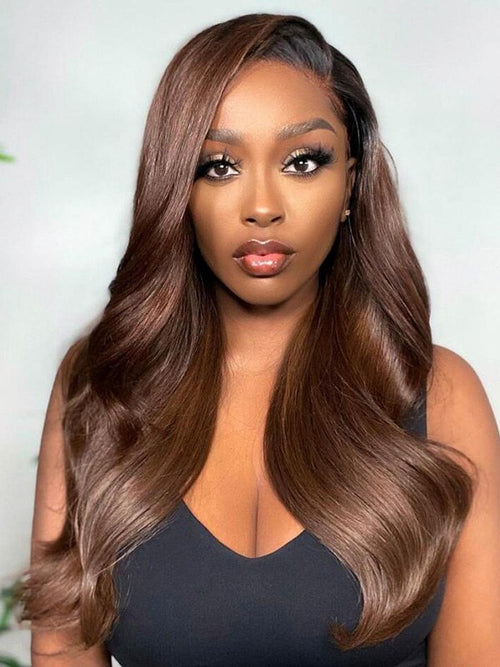 Chinalacewig Body Wave Ombre Color 13x6 HD Lace Front Human Hair Wigs 150% CF191