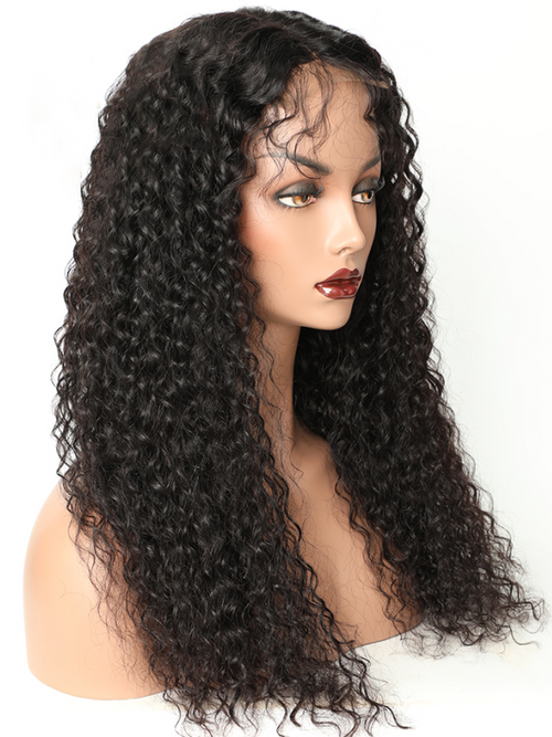 Chinalacewig Thick 180% Density Deep Curly 13×6 Lace Front Wigs With Fake Scalp CF403