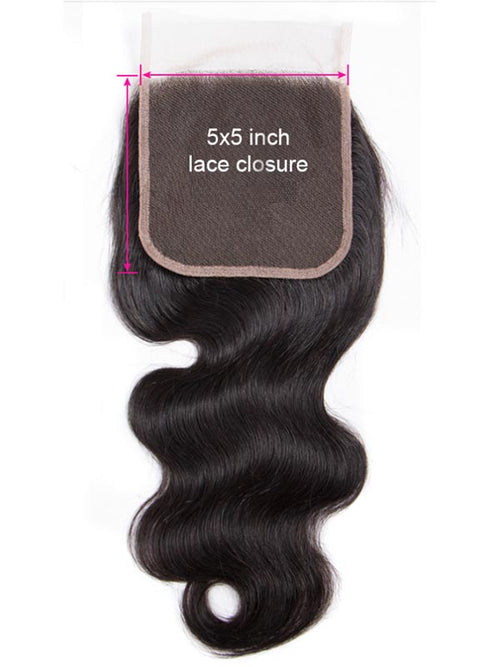 Chinalacewig 5x5 HD Lace Closure 100% Remy Human Hair Lace Closure Bleached Knots CF558