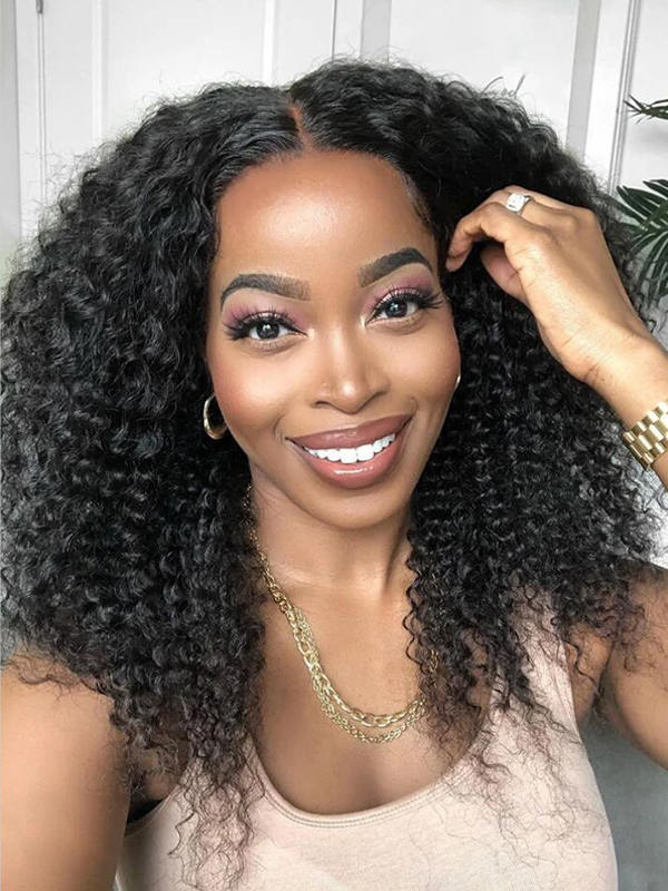 Chinalacewig Best Undetectable Invisible 360 HD Lace Frontal Wigs Curly CF115