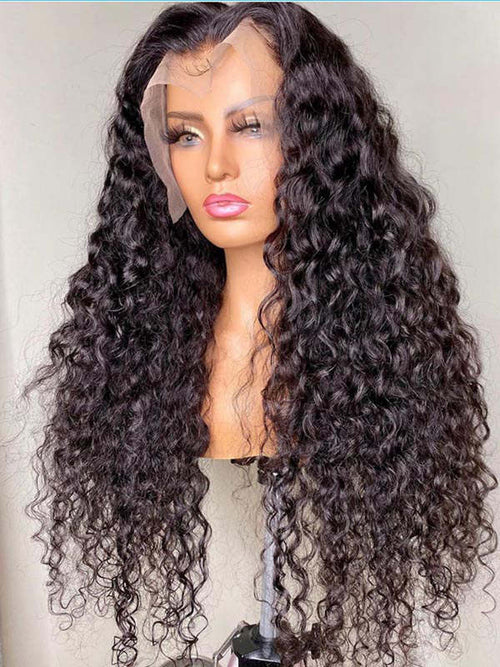Chinalacewig Brazilian Virgin Human Hair Full HD Lace Deep Curly Hair With Bleached Knots CF370