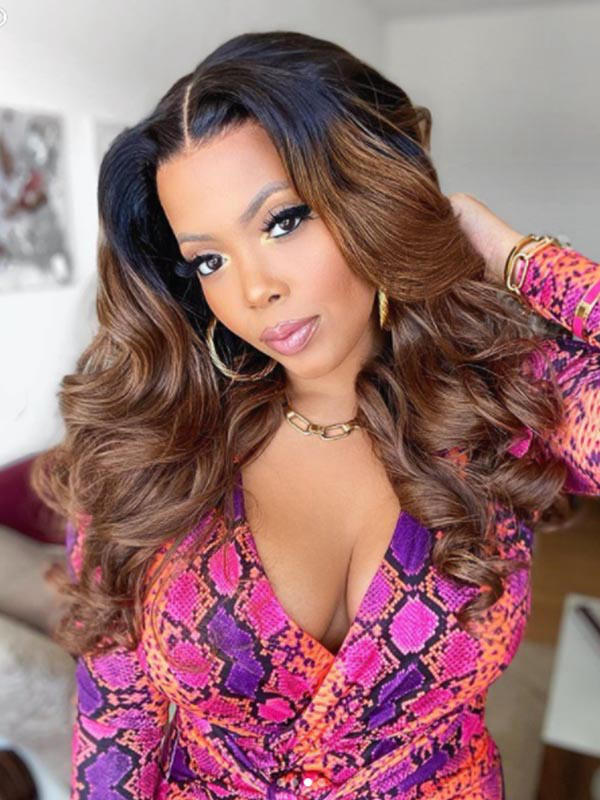 Chinalacewig Flash Sale Customized Color T-part Glueless HD Lace Body Wave Lace Front Wig CLW04