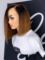 Hot 180% Density Ombre Color Bob Wigs HD Lace 360 Lace Wigs CF492