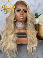 Invisible HD Lace Ombre Blonde Color 150% Density Body Wave Lace Front Wigs CF434