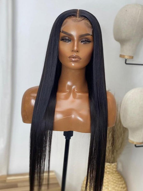 chinalacewig Invisible HD Lace Silky Straight 13x6 Lace Front Wigs Real HD Lace CF282