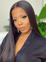 Long Yaki Straight 360 HD Lace Frontal Wigs With Pre Plucked Natural Hailrline CF054