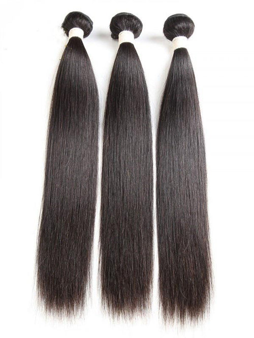 Chinalacewig Natural Color Brazilian Hair Bundles Remy Human Hair Silky Hair Bundles CF484