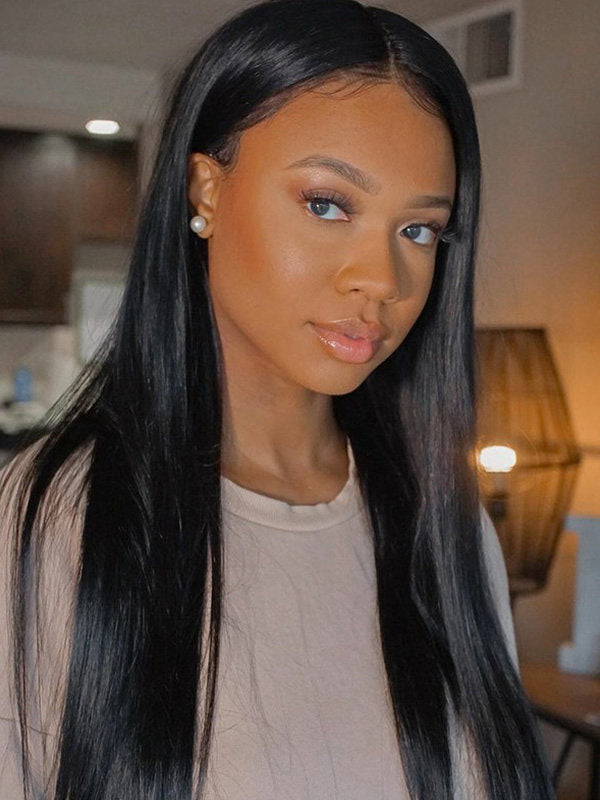 Chinalacewig Pre Plucked Undetectable HD Lace Silky Straight 360 Lace Wigs For Women CF227