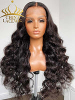 Thick HD Lace Wavy 360 Lace Frontal Wig With Pre-plucked Hairline CF170