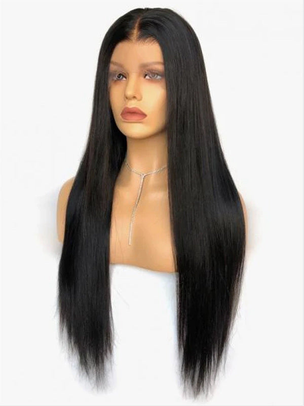 Chinalacewig Top Undetectable Invisible 360 HD Lace Frontal Wig Straight With Fake Scalp CF168