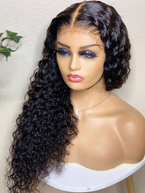 Chinalacewig Undetectable HD Lace Full Lace Human Hair Wig Culry Lace Wig CF019