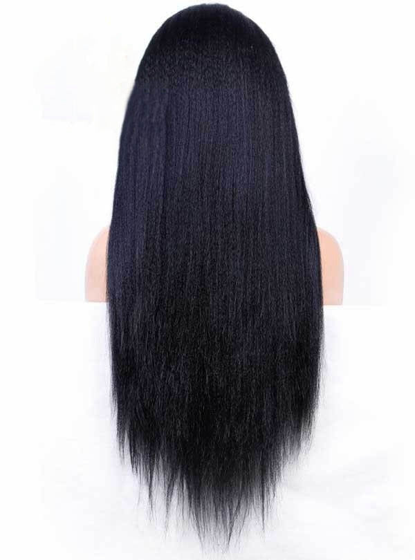 Chinalacewig Kinky Straight 13X6 Lace Front Human Hair Wigs With HD Lace CF037