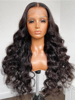 Chinalacewig Undetectable HD Lace 180% Body Wave Lace Front Human Hair Wigs NCF62