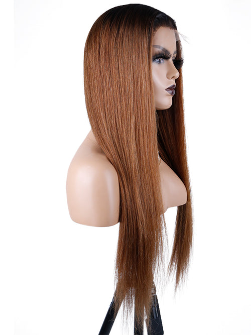 Chinalacewig Undetectable HD Lace Straight Ombre Color Lace Front Wigs NCF68