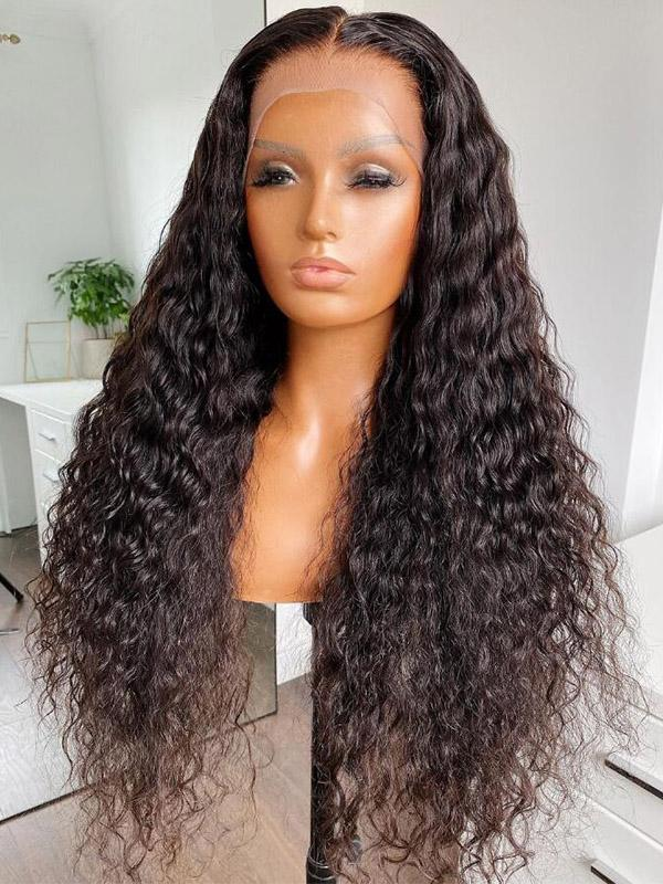 Chinalacewig Undetectable Invisible HD Lace Deep Wave 13x6 Lace Front Human Hair Wigs NCF63