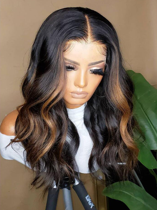 Chinalacewig Highlight Color HD Lace Body Wave Lace Wigs CF569
