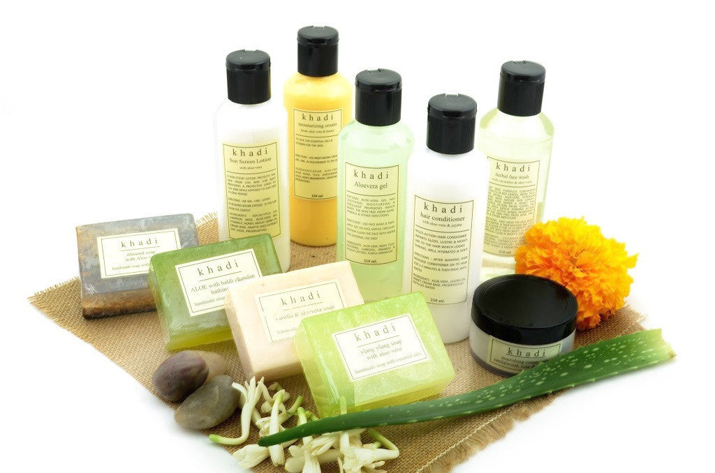 Aloe Vera Kit of Soaps, Sun Screen, Conditioner, Gel & Face Wash with ingredients