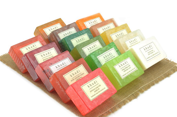 Assorted Natural Handmade Soaps - Best of Khadi (Pack of 16)
